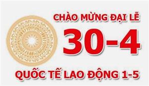 CS-Solution thông báo lịch nghỉ lễ 30/04 và 01/05 năm 2019